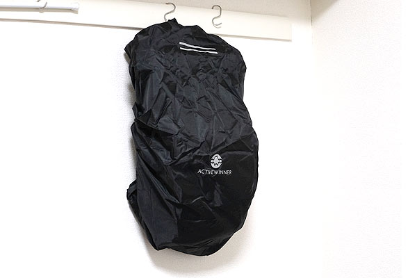 ザックカバー・リュックカバーをバックパックに装着