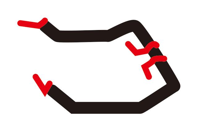 シフトレバーと補助ブレーキの組み合わせの場合