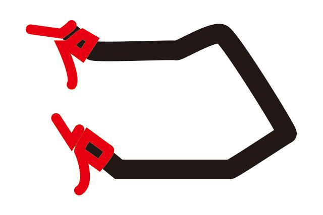 サムシフターとブラケット付きブレーキの組み合わせの場合