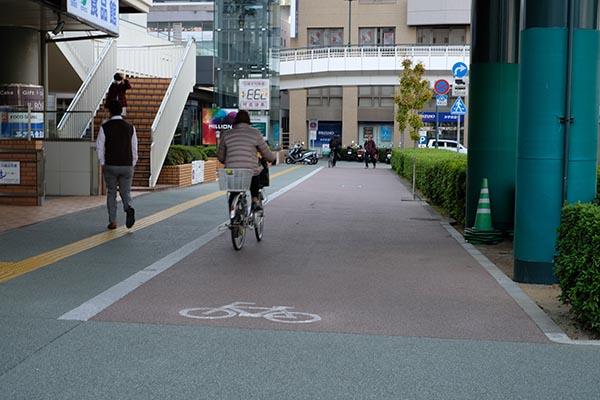 放置自転車が少ない