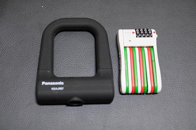 自転車の施錠方法を見直して携帯性の良いU字ロックとフォールディングロックの二つに決定