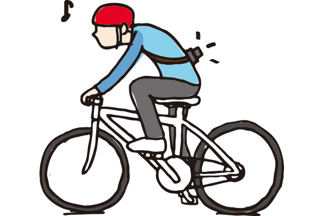 自転車でカメラやバッグのずり落ち