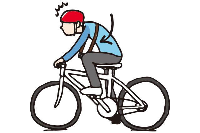 自転車で斜め掛けしたカメラやバッグがずり落ちる
