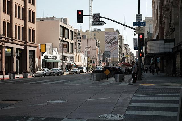 カリフォルニア州 ロサンゼルスのダウンタウンエリア