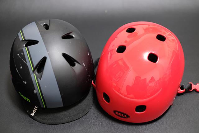 ヘルメットを着用させる