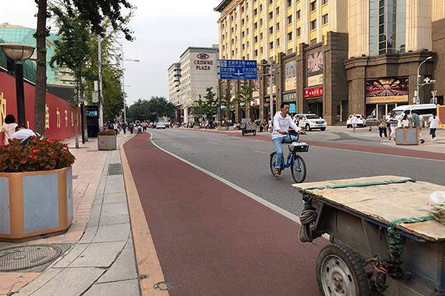 北京の自転車レーン