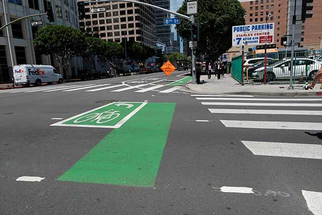 ロサンゼルスのダウンタウンエリアの自転車事情 道路環境