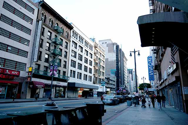 ロサンゼルスのダウンタウンエリア