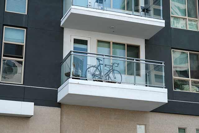 ベランダの自転車