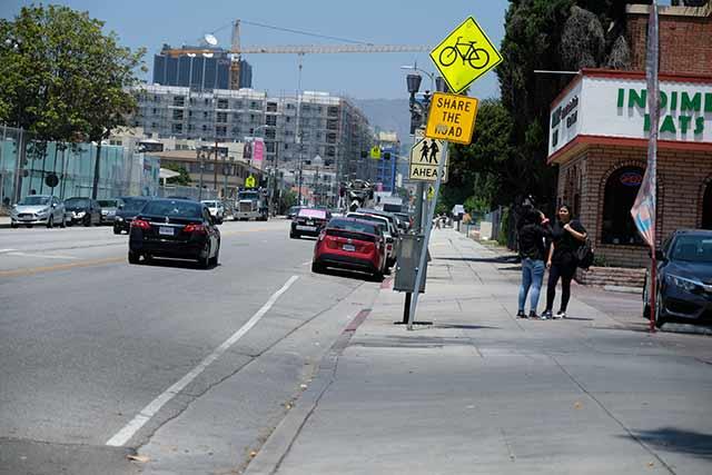 ハリウッドの自転車レーン
