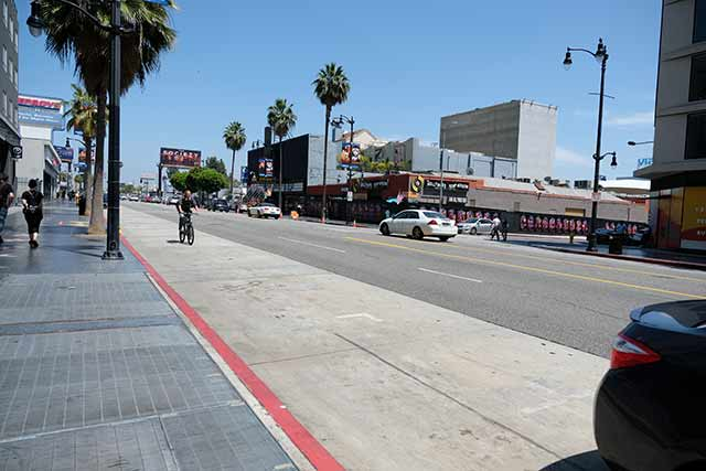 ハリウッドの中心地から離れると意外と人は少ない