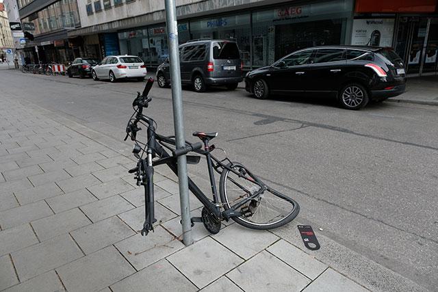 盗難自転車