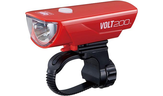 赤い自転車用のライト