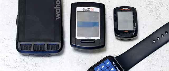 自転車用途のスマートフォン・サイクルコンピューター・スマートウォッチの比較