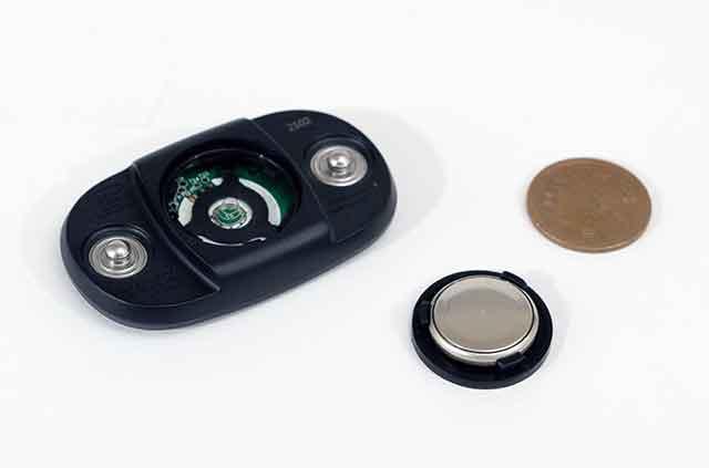 Wahoo TICKRxのバッテリーはボタン電池でも長寿命